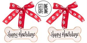 Picture of FTO Dog Bone Ornament [QTY: 2; Give One Get One FREE]